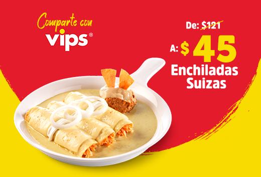 Enchiladas suizas $45
