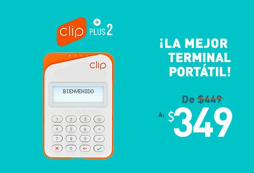 Terminal portátil Clip Plus 2 $349